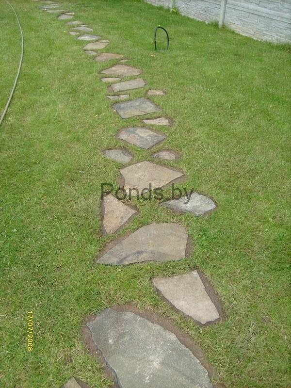 Дорожка из плоских камней своими руками 44