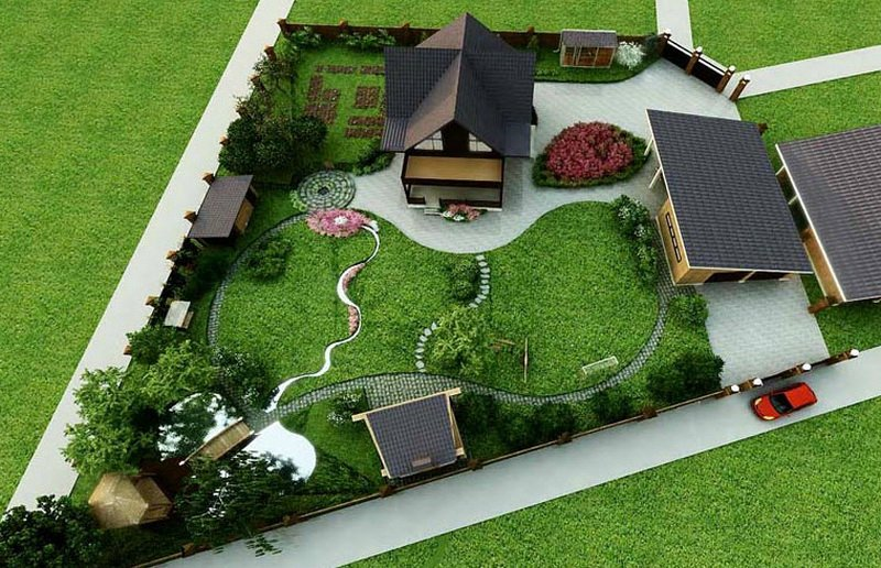 Ландшафтный дизайн на даче do